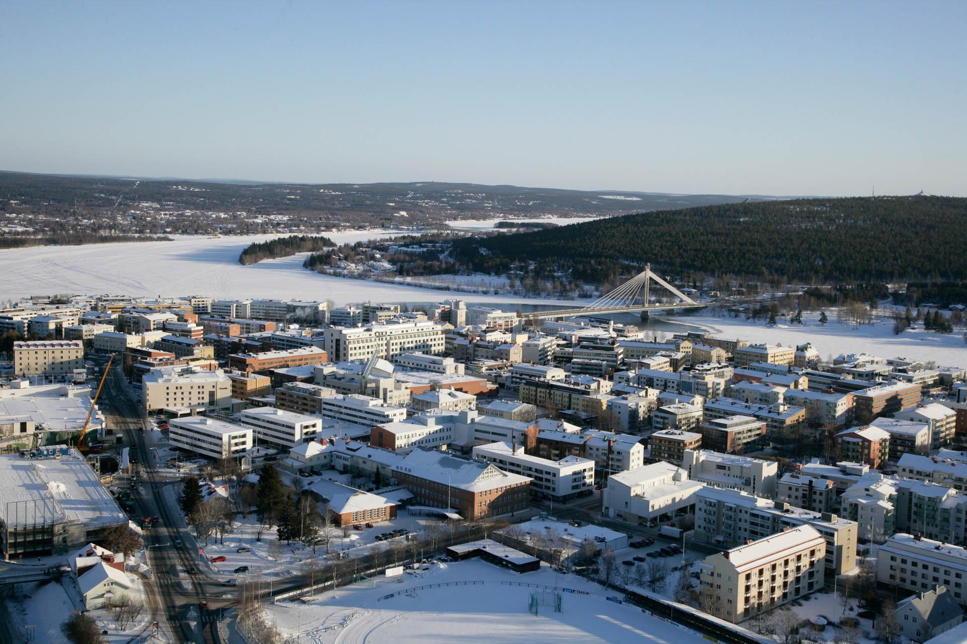 Rovaniemi talvella. Kuva: Visit Rovaniemi